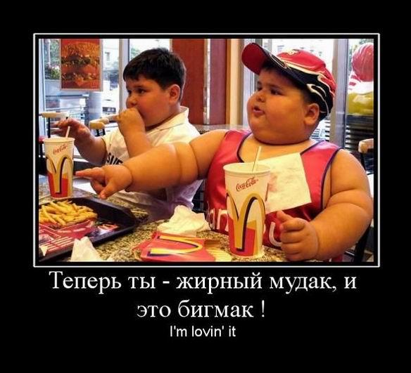 Теперь ты - жирный мудак, и это бигмак! Im lovin it