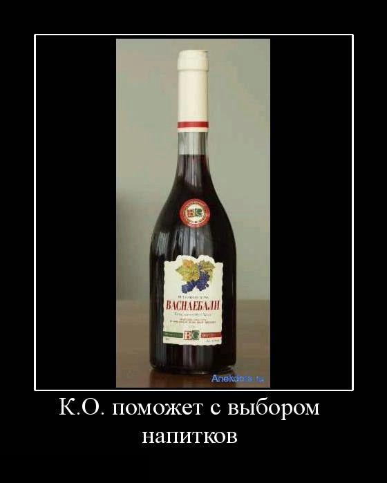 К.О. поможет с выбором напитков
