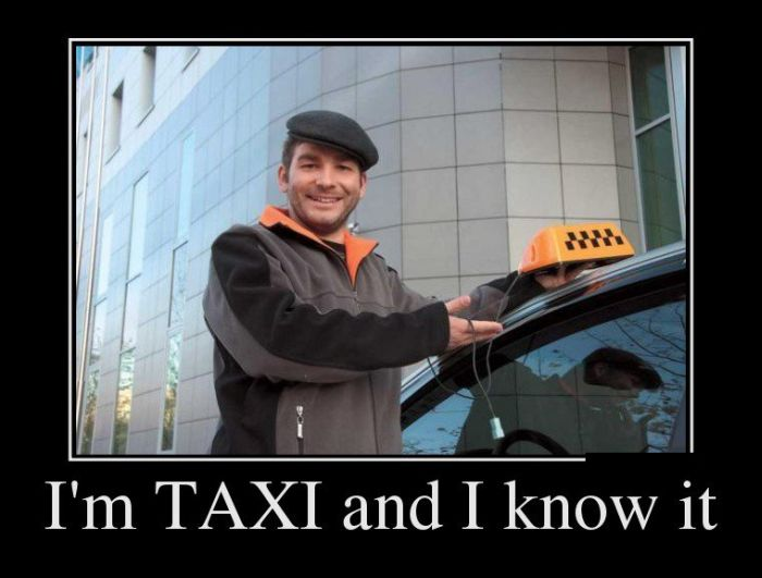 Im TAXI and I know it