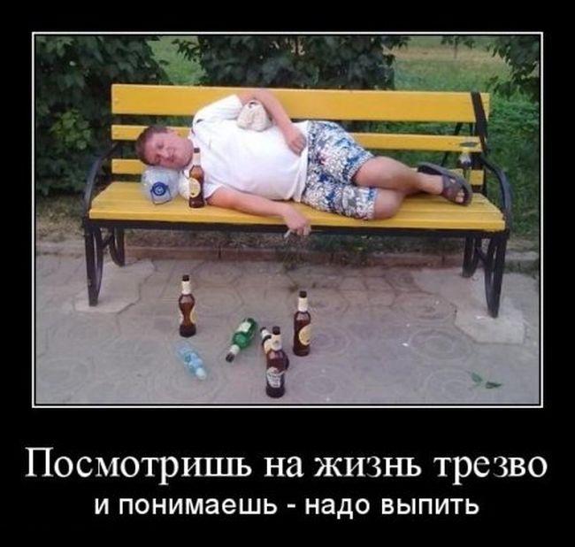 Посмотришь на жизнь трезво и понимаешь — надо выпить