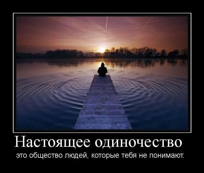 Настоящее одиночество это общество людей, которые тебя не понимают