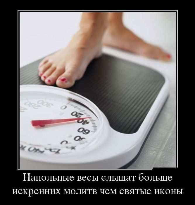 Напольные весы слышат больше искренних молитв, чем святые иконы