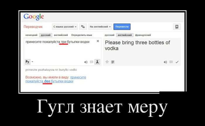 Гугл знает меру