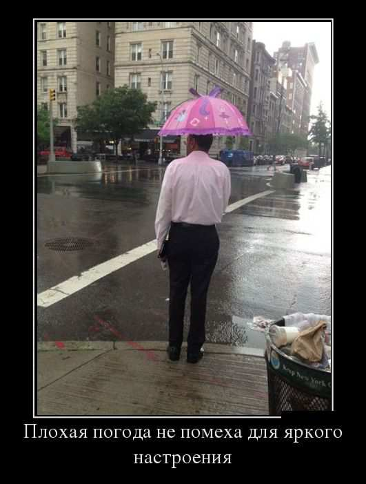 Плохая погода не помеха для яркого настроения
