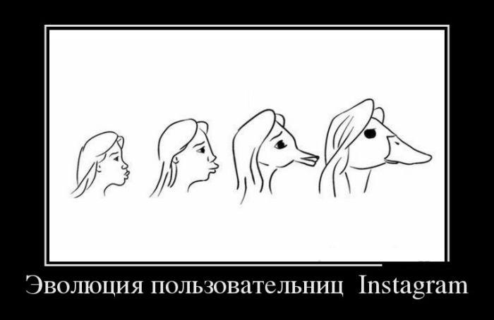 Эволюция пользовательниц Instagram